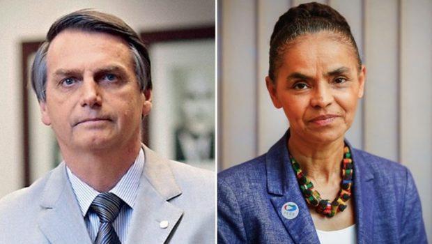 Pesquisa Ibope/CNI mostra Bolsonaro e Marina empatados tecnicamente