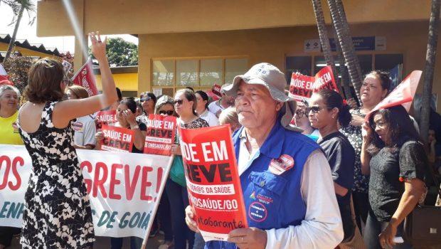 Negociações não avançam e servidores da saúde de Aparecida entram no segundo dia de greve