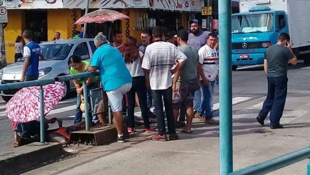 Mulher é atropelada por ônibus do Eixo Anhanguera em Goiânia