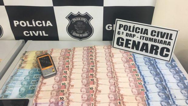 Em uma semana, dois vendedores de dinheiro são presos em Goiás