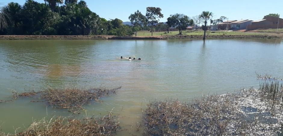 Adolescente é resgatado com vida após se afogar em lago no município de Porangatu