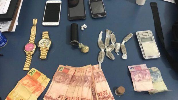 Operação das polícias Civil e Militar acarreta em prisão de traficante e apreensão de adolescentes, em Aruanã