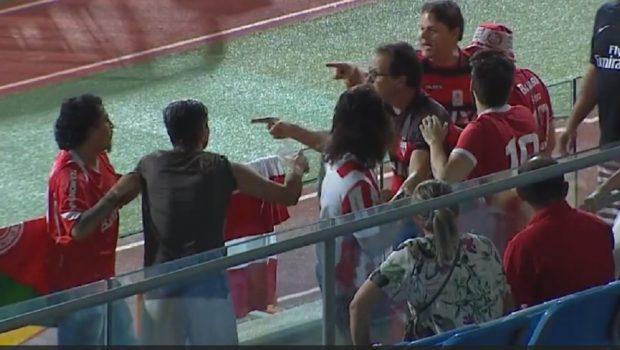 Torcedores do Atlético agridem adversário na arquibancada do Olímpico