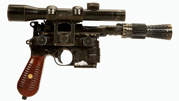 Blaster de Han Solo usado em 'O Retorno de Jedi' é leiloado por US$ 550 mil