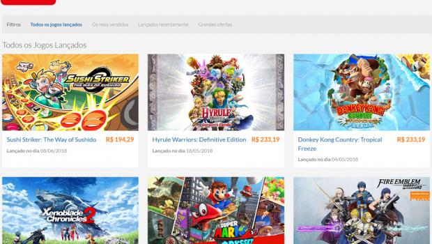 Nintendo lança loja digital para o Brasil