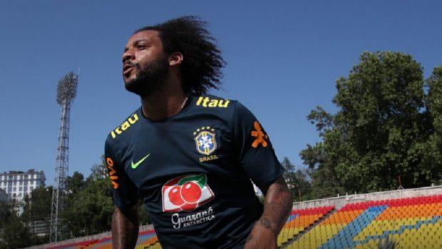 Marcelo volta a treinar, mas ainda não está confirmado contra o México