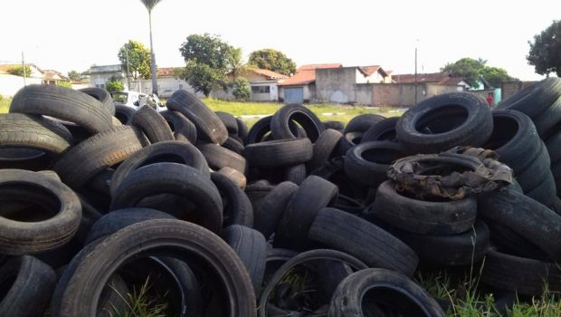 Ação retira quatro mil pneus sem utilidade do Balneário Meia Ponte, em Goiânia