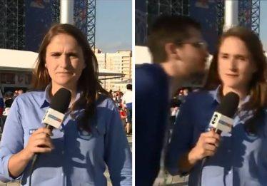 Repórter brasileira é assediada durante cobertura na Copa do Mundo da Rússia
