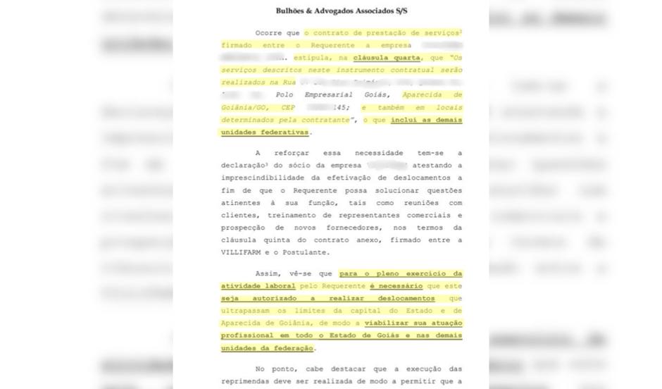 Pedido feito por defesa de Carlinhos Cachoeira: viabilizar atuação profissional nas demais unidades da federação (Foto: Reprodução)