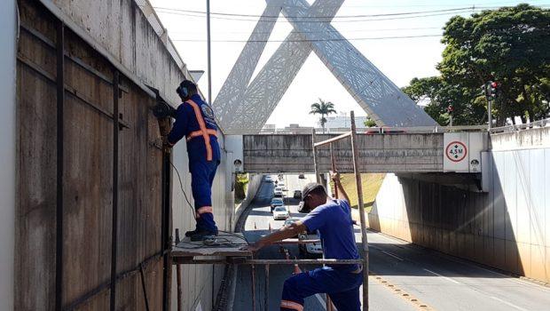 Nova fase da revitalização dos viadutos da Praça do Ratinho e da T-63 é iniciada