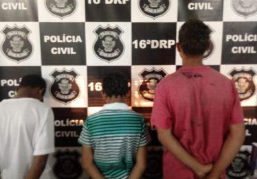 Três menores são apreendidos por furto e vandalismo, em Ceres