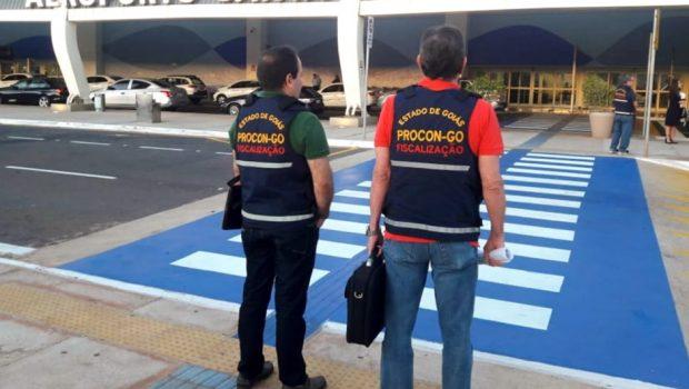 Oito empresas são autuadas pelo Procon no Aeroporto de Goiânia