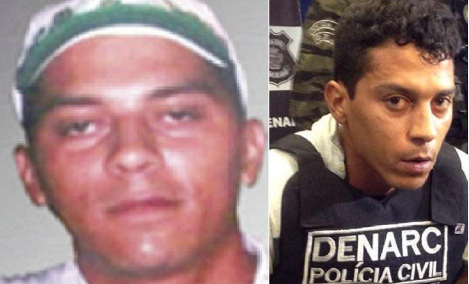 Iterley Martins, traficante que teria feito cirurgias para alterar a aparência, preso em 2017 (Fotos: reprodução / Polícia Civil)