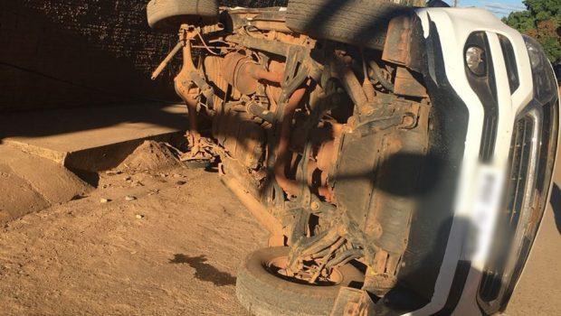 Viatura em alta velocidade causa acidente de trânsito durante perseguição em Iaciara