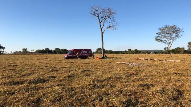 Homem fica ferido após colidir parapente em árvore, em Firminópolis
