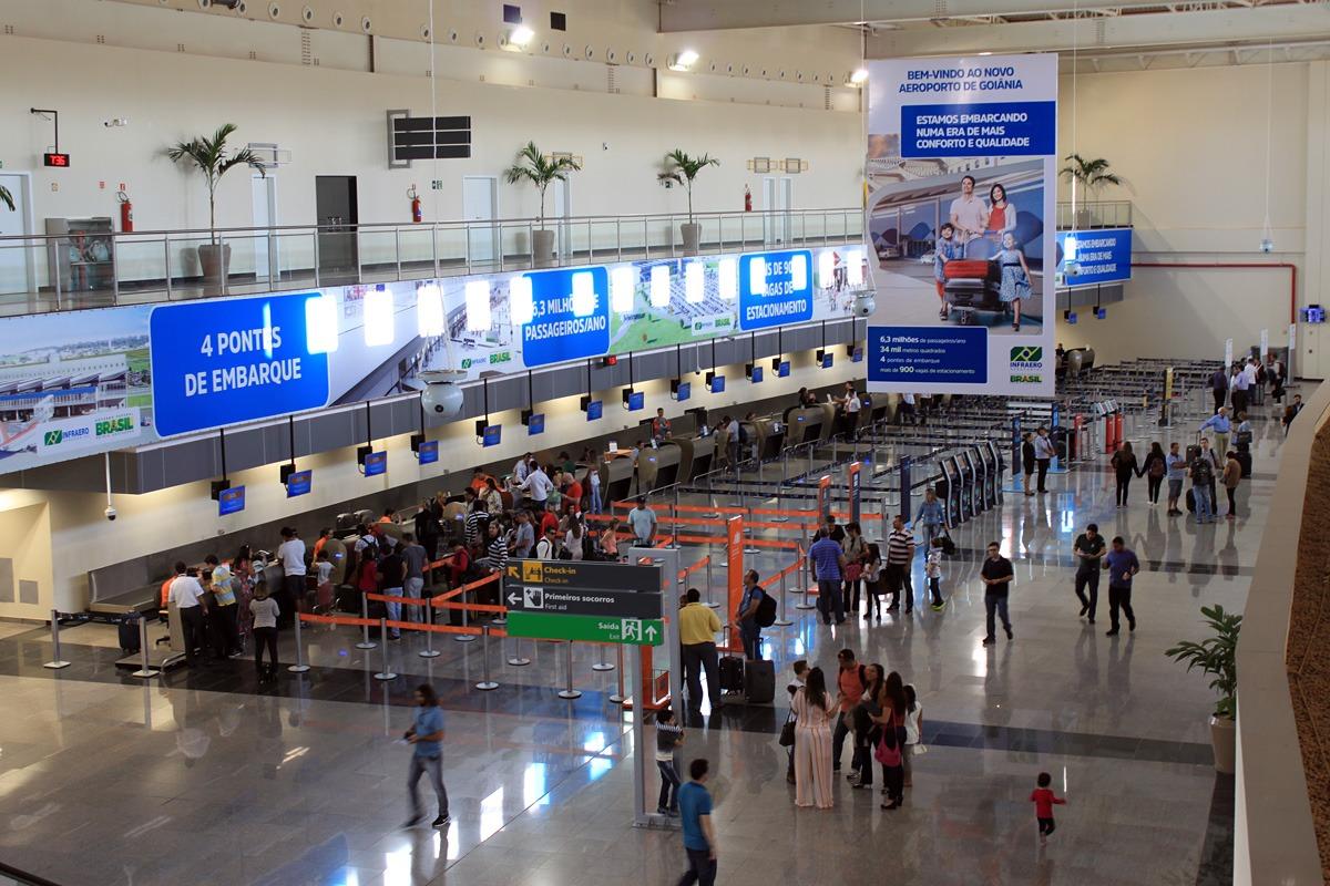 Internacionalização do Aeroporto Santa Genoveva está prevista para outubro, diz secretário