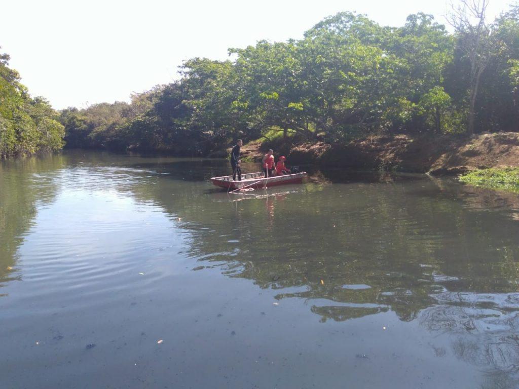 Bombeiros encontram corpo de vítima de afogamento no Córrego Rio Verde, em Mineiros
