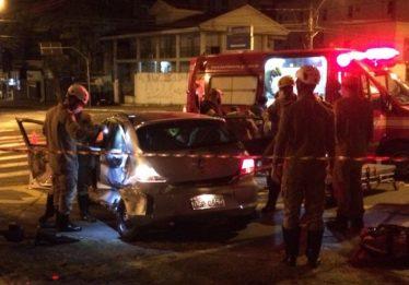 Acidente de trânsito deixa três pessoas feridas no Setor Marista, em Goiânia
