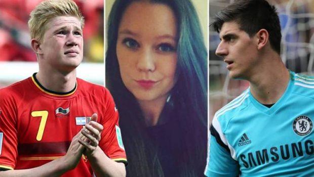 Ex-namorada de De Bruyne traiu o meia com goleiro Courtois da Bélgica