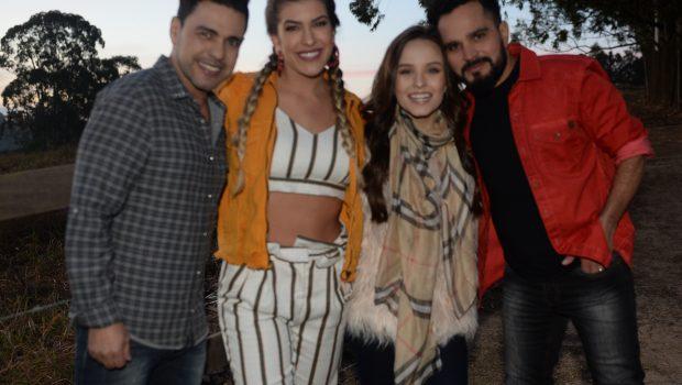 Zezé di Camargo e Luciano gravam clipe com Larissa Manoela e Lore Improta cbd93f967a