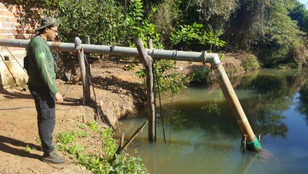 Produtor rural é multado em R$ 90 mil por captação irregular de água da Bacia do Meia Ponte