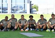 Cristiano Ronaldo festeja '1º treino duro' cumprido em pré-temporada na Juventus