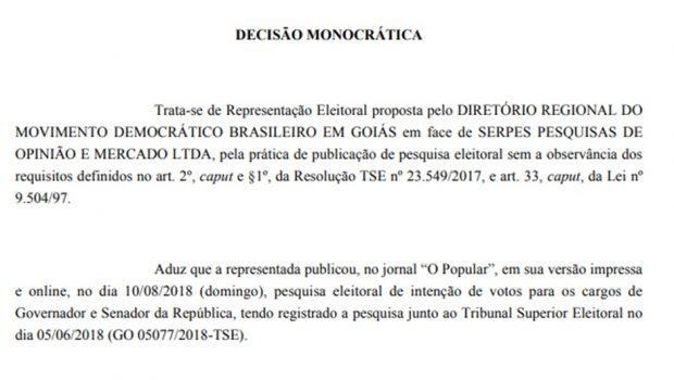 Serpes é multado pelo TRE em quase R$70 mil por divulgar pesquisa antecipada