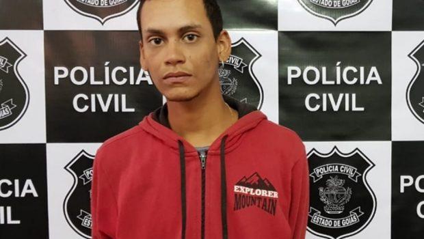 Jovem é preso suspeito de matar um homem com golpes de pá, em Luziânia