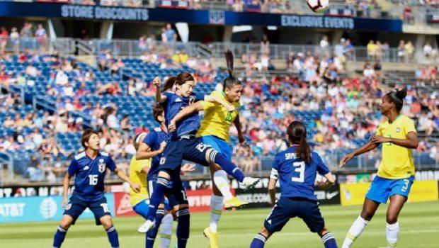Seleção feminina de futebol reage e vence Japão no Torneio das Nações