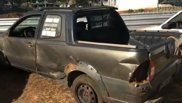 Homem se envolve em acidente com carro roubado e é preso na BR-070