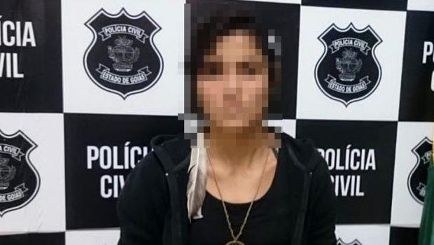 Mulher envolvida em homicídio é presa, em Buriti Alegre