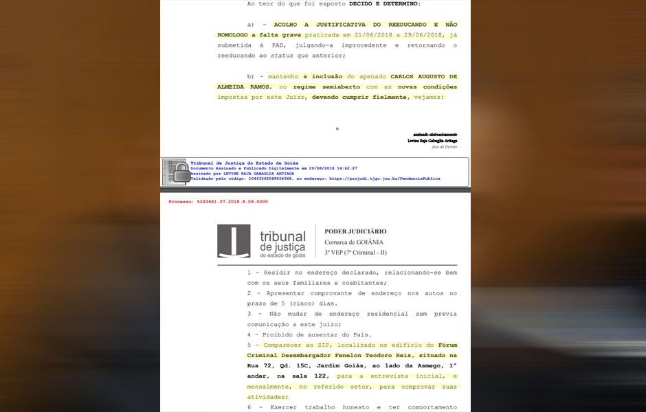 Justiça decide que Carlinhos Cachoeira pode retirar tornozeleira eletrônica e transitar em todo território brasileiro (Foto: Reprodução / Mais Goiás)