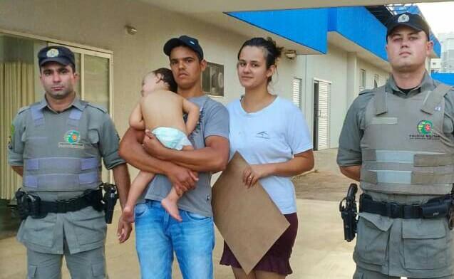 Criança engasgada é socorrida por policiais militares em Anápolis