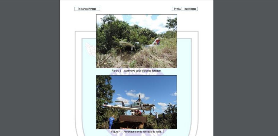 Não é primeiro acidente com avião que caiu em São João D'Aliança (Reprodução / Cenipa)