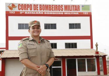 Pela primeira vez em Goiás, mulher assume comando de batalhão do Corpo de Bombeiros Militar