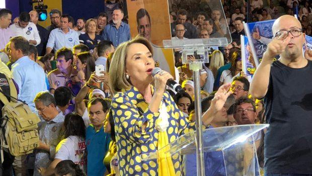 Durante convenção do PSDB, Raquel Teixeira é anunciada vice de José Eliton