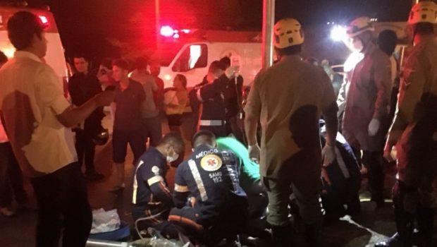 Acidente entre duas motocicletas termina com um morto e três feridos no Residencial Humaitá