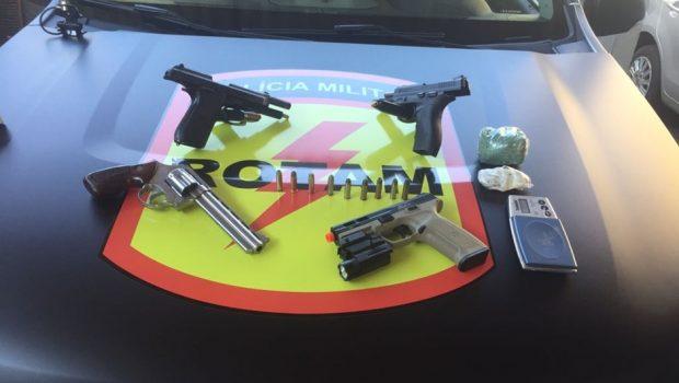 Rotam apreende armas e drogas em residência no Setor Sudoeste nesta quarta-feira (22)
