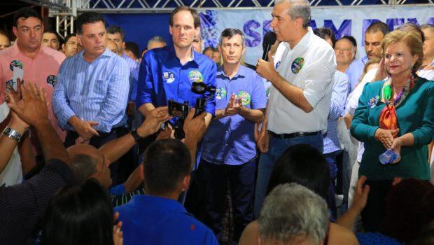 Zé Eliton e Marconi realizam comício na cidade de Rio Verde