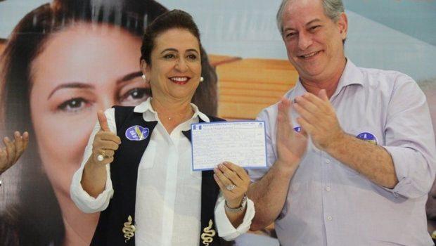 Ciro escolhe Kátia Abreu como candidata a vice