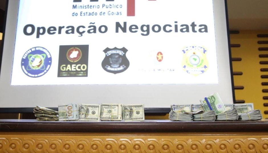 MPGO apreende U$ 120 mil na Operação Negociata