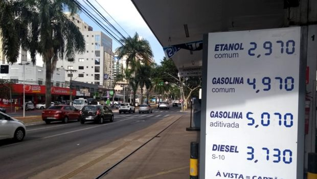 Goiânia registra nova alta em combustíveis; gasolina foi encontrada a R$ 4,97