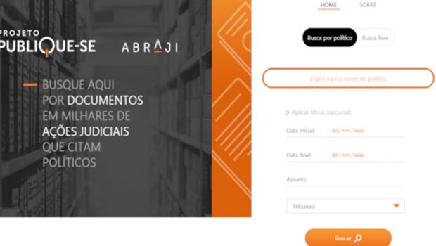 Abraji lança ferramenta para encontrar processos judiciais de políticos