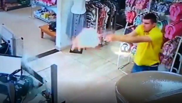 Policial reage a assalto e atira em bandido, em Itaberaí