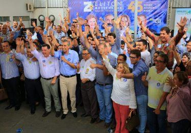 Prefeitos e líderes do interior se encontram com Zé Eliton, Marconi e Lúcia Vânia