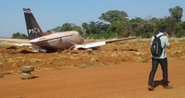 Avião com Daniel Vilela (MDB) faz pouso forçado em Itapaci