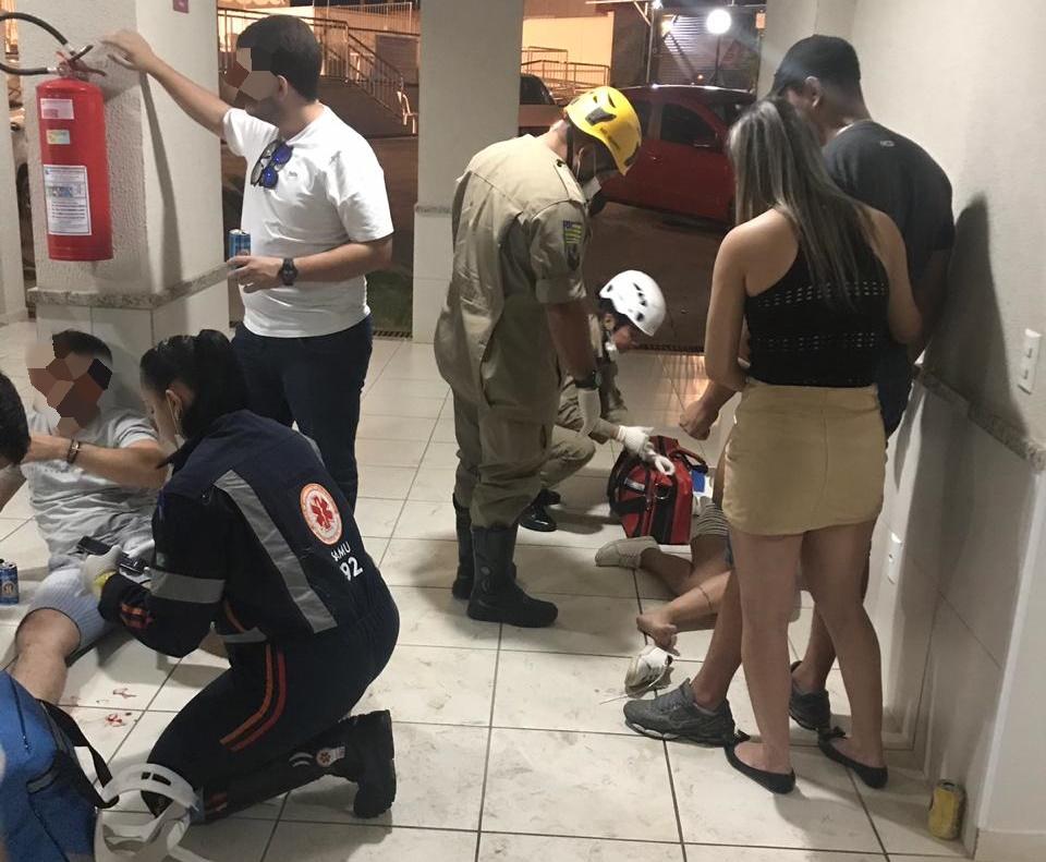 Festa de policiais e agentes prisionais termina em tiro em condomínio no Setor Negrão de Lima