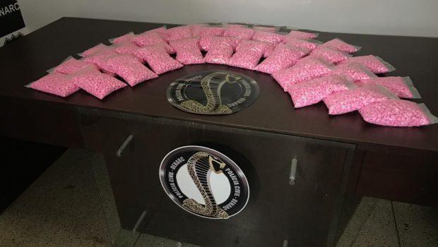 Homem é preso com mais de 30 mil comprimidos de ecstasy em Aparecida