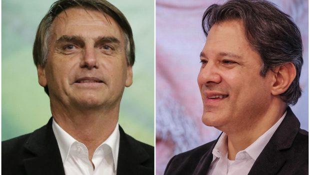 Bolsonaro lidera corrida eleitoral com 28,2% seguido por Haddad com 17,6%, diz pesquisa CNT/MDA