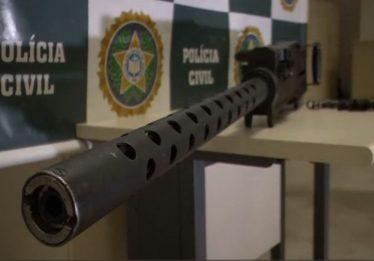 Polícia do Rio apreende arma capaz de furar blindagem de carro-forte
